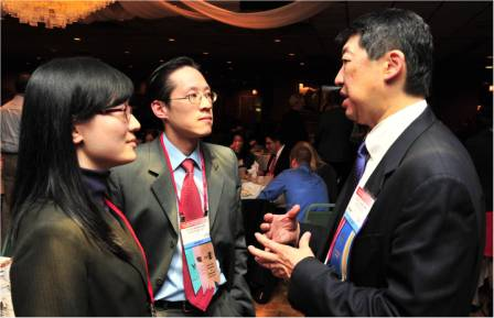 David Chang, MD with Ophthalmology Residents Grace Chen, MD and Silas Wang, MD
